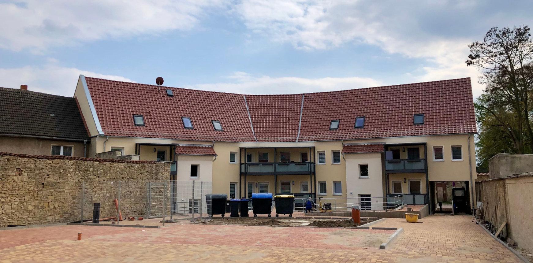 Energetische Fassadensanierung MFH durch Bauunternehmen Magdeburg
