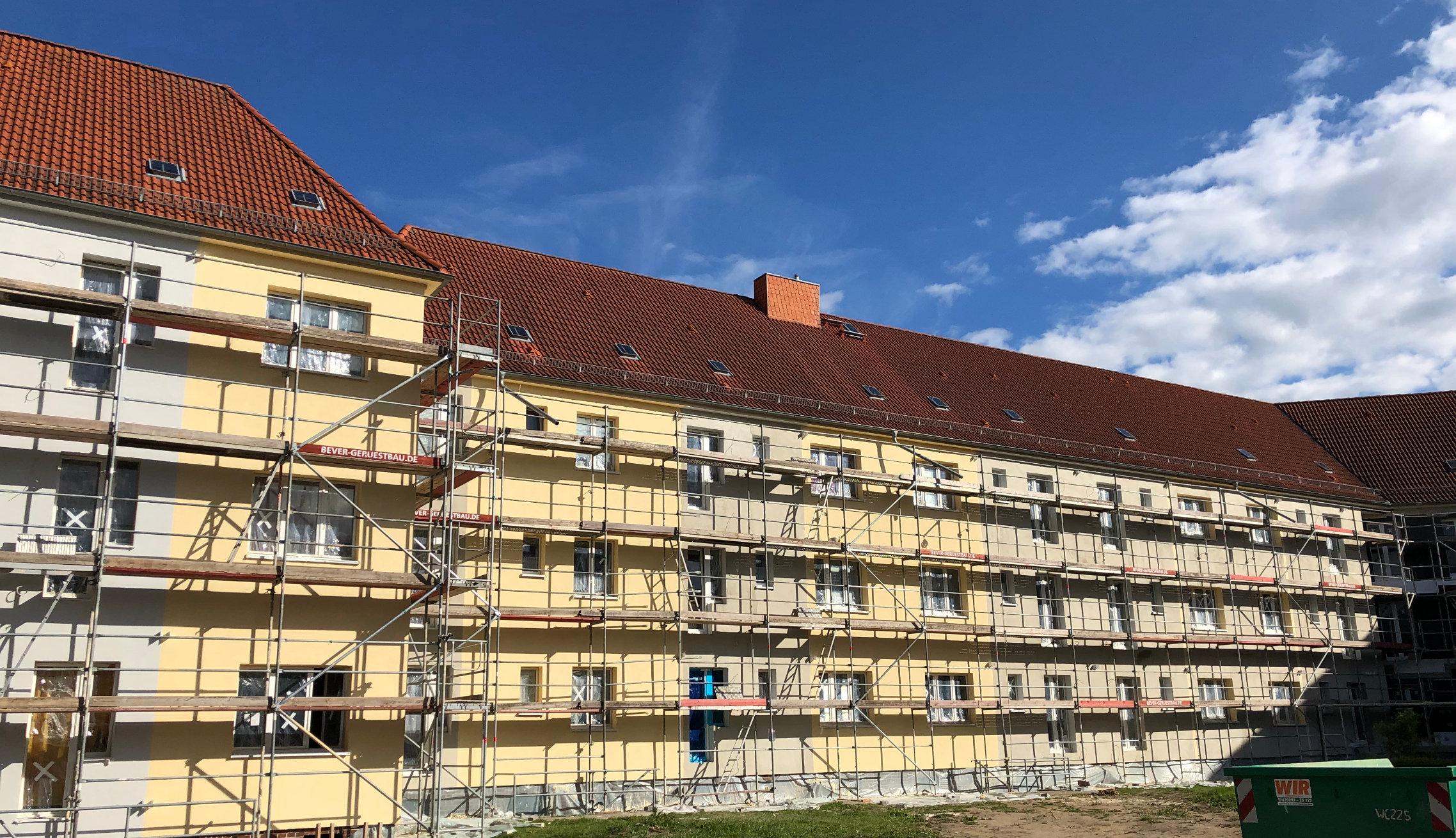 Energetische Fassadensanierung vom Bauunternehmen in Magdeburg
